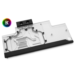 Waterblock VGA EK Water Blocks EK-FC Trio RTX 2080 Ti Classic RGB - Nickel + Plexi