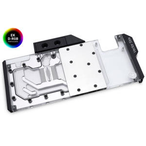 Waterblock VGA EK Water Blocks EK-Quantum Vector Strix RTX 2080 Ti D-RGB - Nickel + Plexi