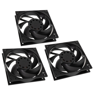 Pachet 3 ventilatoare 120 mm EK Water Blocks EK-Vardar EVO 120ER Black BB (500-2200rpm) Triple Set