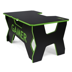 Birou gaming Generic Comfort Gamer2 DS/NE (Black/Green)