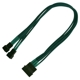 Cablu adaptor Nanoxia 4-pini Molex la 2x 3-pini, Single Sleeve, 30cm, Green