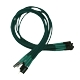 Nanoxia Front Panel cable set, 30cm, Green