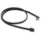 Cablu Sharkoon SATA3, conector in unghi drept, 100cm, Black