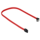 Cablu Sharkoon SATA3, conector in unghi drept, 30cm, Red