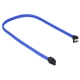 Cablu Sharkoon SATA3, conector in unghi drept, 45cm, Blue