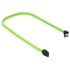Cablu Sharkoon SATA3, conector in unghi drept, 45cm, Green