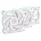 Set 3 ventilatoare 120 mm In Win Sirius Pure ASP120, ARGB, Triple Pack, PWM, controller inclus, ASP120FAN-3PK