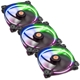 Set 3 ventilatoare 140mm Thermaltake Riing 14 RGB LED Radiator Fan