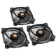 Set 3 ventilatoare 120 mm Thermaltake Riing 12 High Static Pressure White LED Radiator Fan