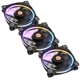 Set 3 ventilatoare 120 mm Thermaltake Riing 12 RGB LED Radiator Fan