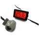 Senzor de temperatura XSPC LCD Temperature Display (Red) V2 + G1/4 Inline Sensor